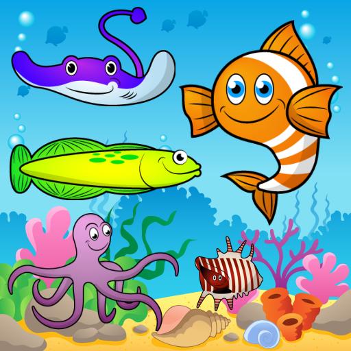 Rompecabezas para niños - El mar, los peces y los animales