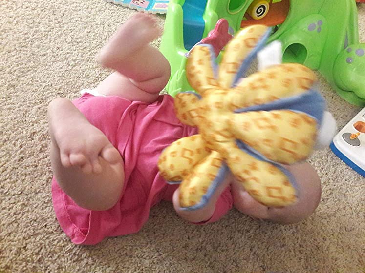 Baby Einstein Octoplush Musical Plush Toy, Ages 3 months + 6 month old loves it!