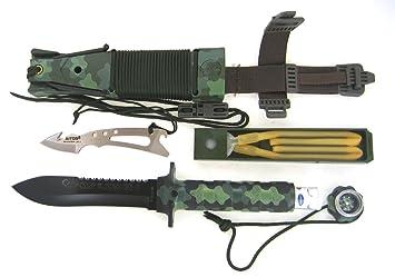 AITOR Jungle King II Cuchillo de Caza, Negro, L: Amazon.es ...
