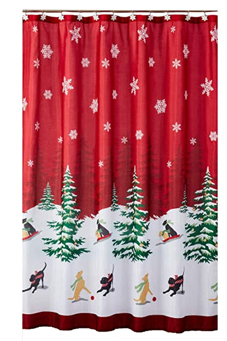 Image Unavailable Not Available For Color Christmas Shower Curtain