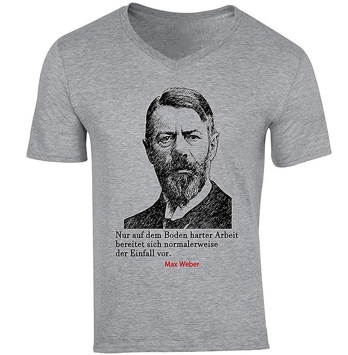 Teesquare1st Max Weber Arbeit Zitate Camiseta Gris Para