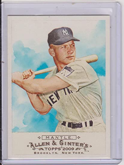 2009 Allen Ginters Mickey Mantle Yankees Baseball Card 136