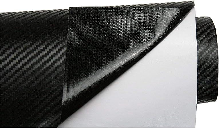 BangShou Pellicola Vinilica Adesiva in Fibra di Carbonio per l/'Auto per Vernice Universale per Auto Fai-da-Te per Interni//Esterni Nero 3D