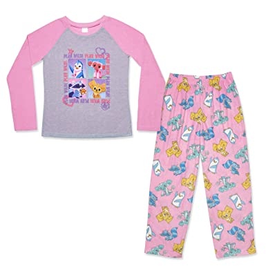 Mad Dog Concepts Girls 2-Piece Pajama Set – Animal Jam Prints (Pink Wild