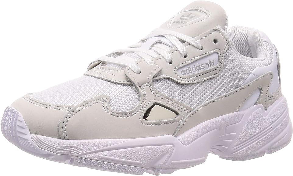 adidas Falcon W - Zapatillas para Mujer, Blanco, 38 EU: Amazon.es: Zapatos y complementos