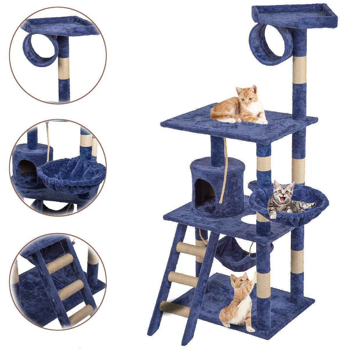 BestPet 64'' Cat Tree Tower Condo Furniture Scratch Post Kitty Pet House