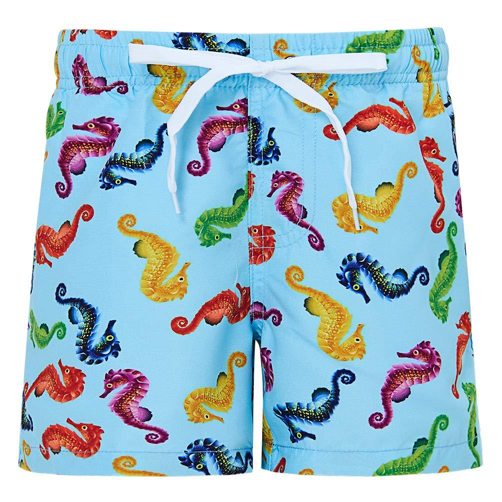 Fanient Boys 3D Printed Funny Swim Trunks Quick Dry Beachwear Sports Running Swim Board Shorts 4-12Y