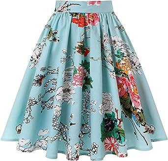 Falda plisada vintage de los años 50 con bolsillos: Amazon.es ...