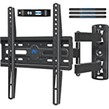 Mounting Dream Full Motion TV Wall Mount Corner Bracket with Perfect Center Design for Most of 26-55 Inch LED, LCD, OLED Flat