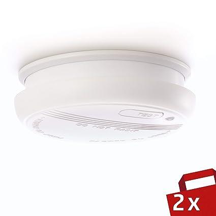 DETECTOR DE HUMO Sicuro | 2 x Alarma de incendio de 4smile | Detector de humo ...