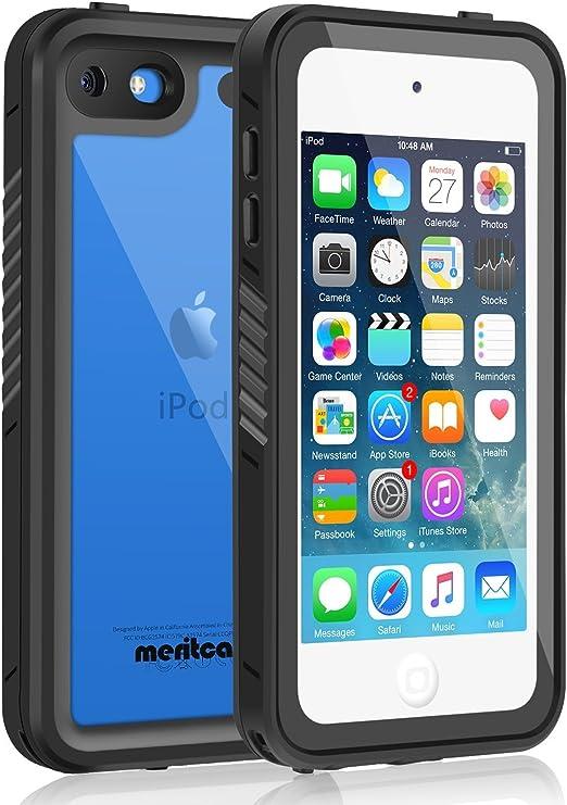 Meritcase Coque étanche pour iPod Touch 7/6/5, anti-chocs, anti-poussière, anti-neige avec béquille et protecteur d'écran pour Apple iPod Touch ...