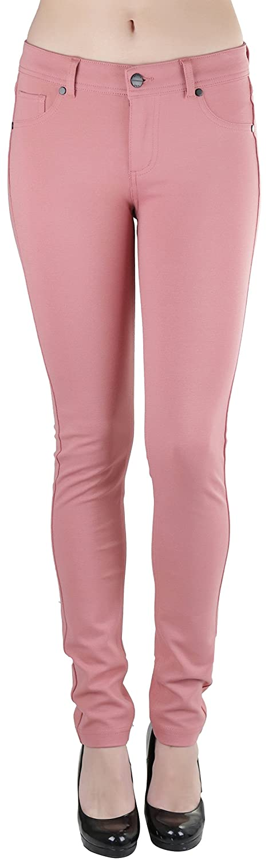 Light Mauve ToBeInStyle Women's 5Pocket Skinny Fit Ponte Pants