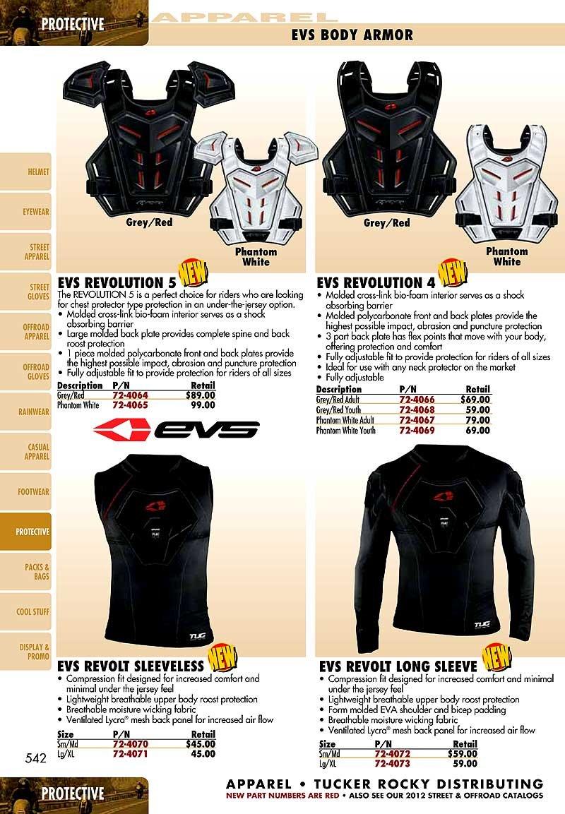 EVS Revo 5 Under Guard-White-S/M by EVS Sports