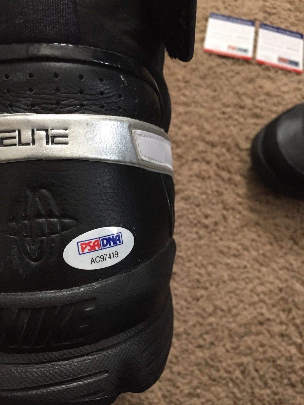 Big Al Jefferson Autographed Signed Nike Elite Worn Shoes PSA/DNA