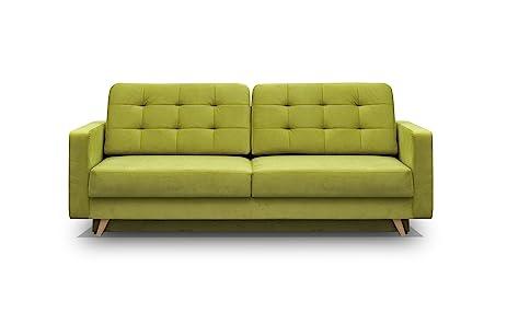 Amazon Vegas Futon Sofa Bed Queen Sleeper with Storage Green