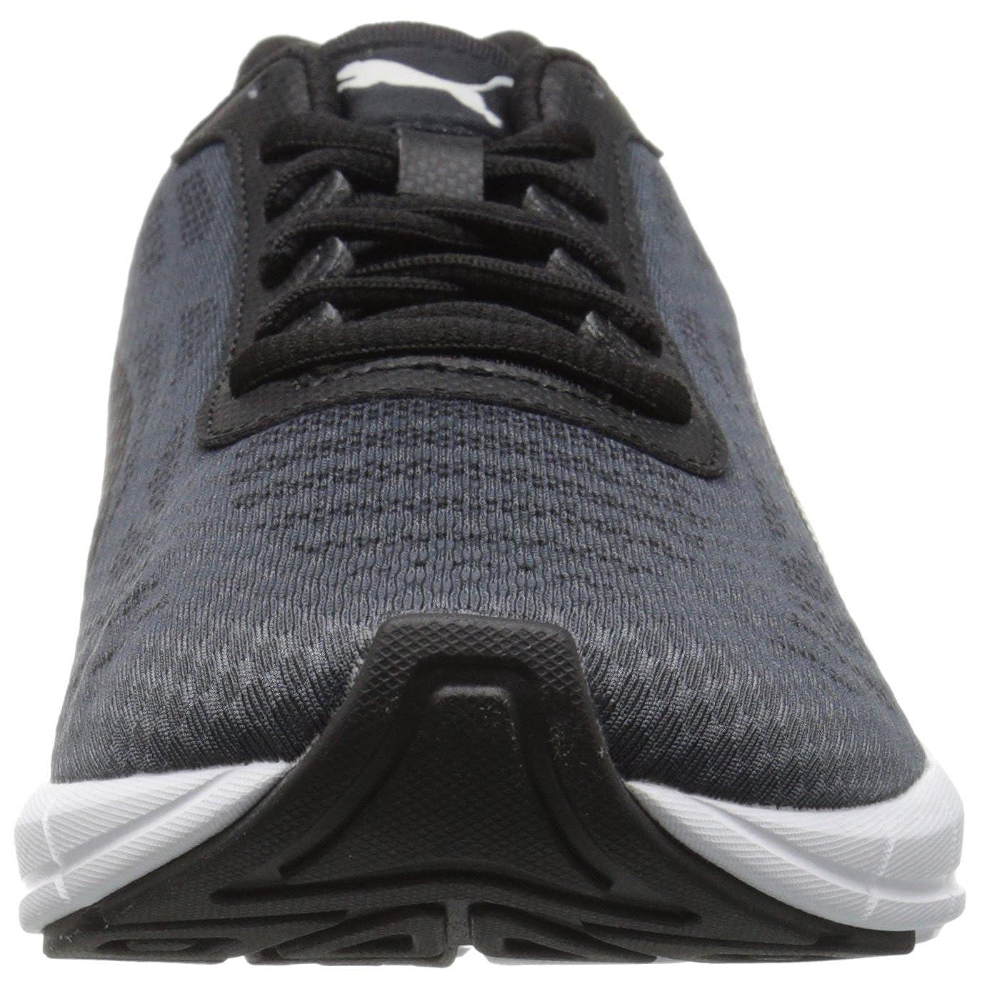 PUMA Men's Meteor Running Shoe, Asphalt BlackPatent, 13 M