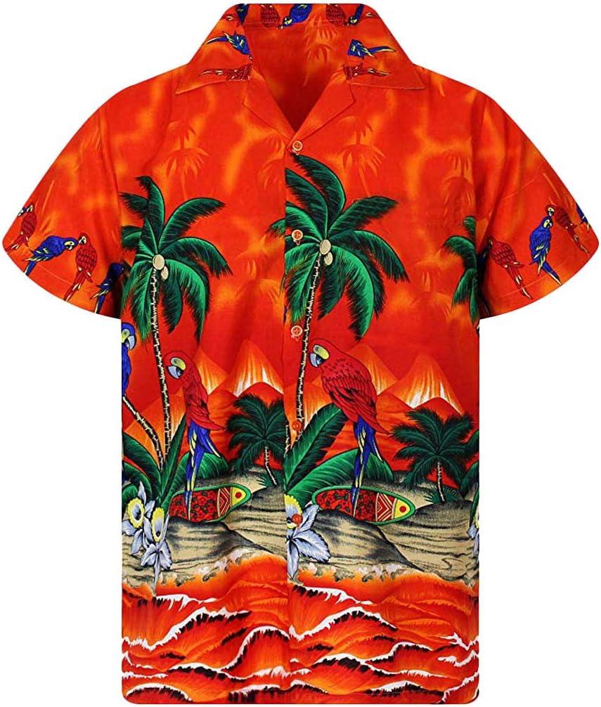DMZing Aloha Tropical - Camisa Hawaiana para Hombre, diseño de Ciervo Hawaiano: Amazon.es: Deportes y aire libre