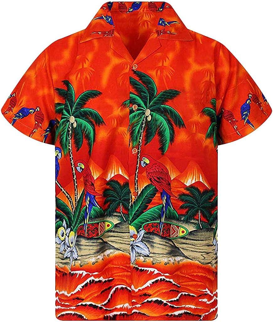 Funky Camisa Hawaiana | Señores | XS - 6XL | Manga Corta | Bolsillo Delantero | Impresión de Hawaii | Big Flower: Amazon.es: Ropa y accesorios