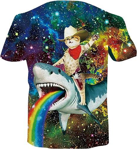 Spreadhoodie Unisex Camisetas 3D Patrón Impreso Camisetas Cuello Redondo Gracioso Verano Casual Manga Corta T-Shirt tee S-XXL: Amazon.es: Ropa y accesorios