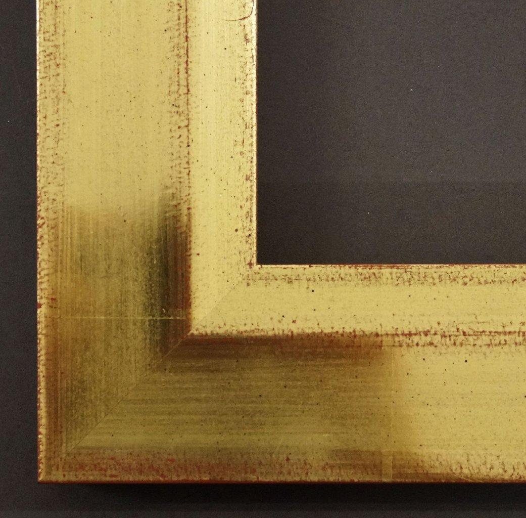 Spiegel Wandspiegel Badspiegel Flurspiegel Garderobenspiegel - Über 200 Größen - Ochsenfurt Antik echt - gold, rot unterlegt 6,0 - Größe des Spiegelglases 40 x 110 - Über 100 Größen zur Auswahl - Wunschmaße auf Anfrage - Shabby, Landhaus