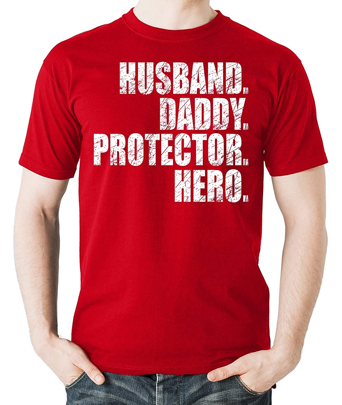 Witty Fashions Husband Daddy Protector Hero, Gift for Dad, Fathers Gift Men's Shirt Fathers Gift Men' s Shirt