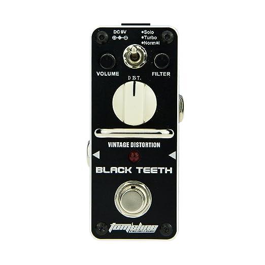 16 opinioni per Pedale effetto distorsione BLACK TEETH ABT-3 Ampio suono di distorsione vintage