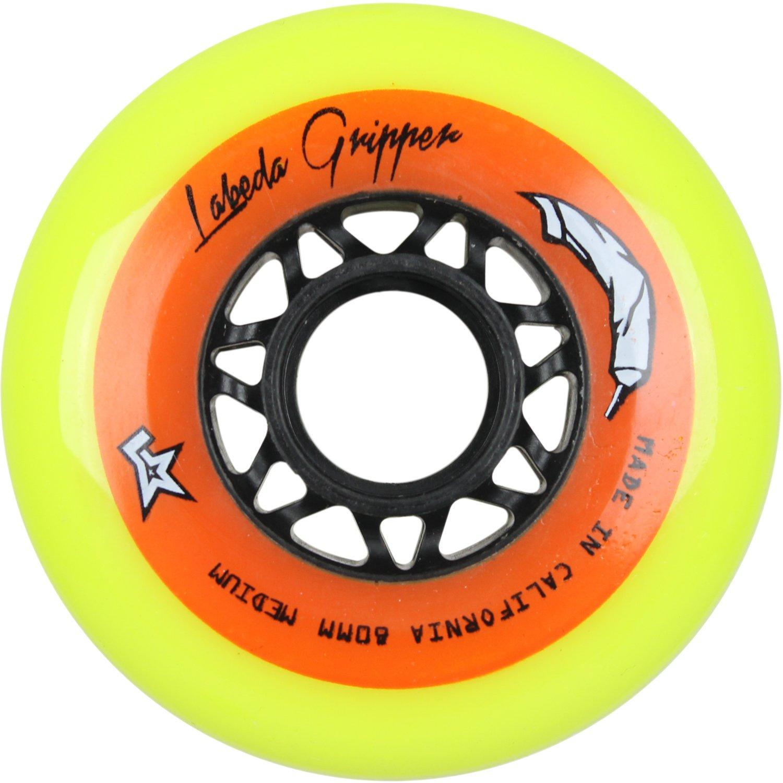 Labeda Gripper標準Hockey Wheelsイエロー80 mm 83 a