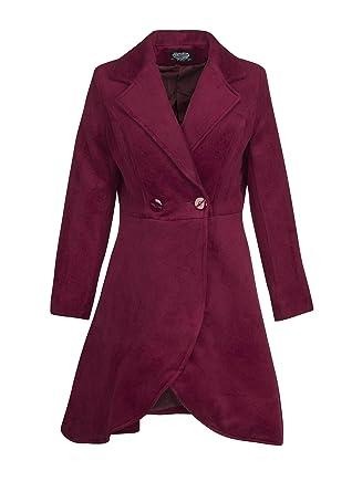 Amazoncom Womens Purple Vintage Look Winter Coat Jacket Clothing