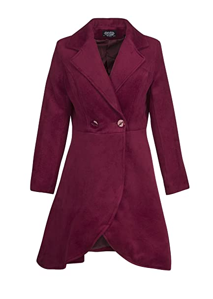 shop for luxury attractivefashion select for original Womens Purple Vintage Look Winter Coat Jacket