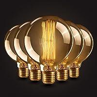 5×Neverland E27 40W Edison Rétro Lampe Antique Vintage Incandescence Ampoules Poire à cage d'écureuil Filament 50V-240V G80