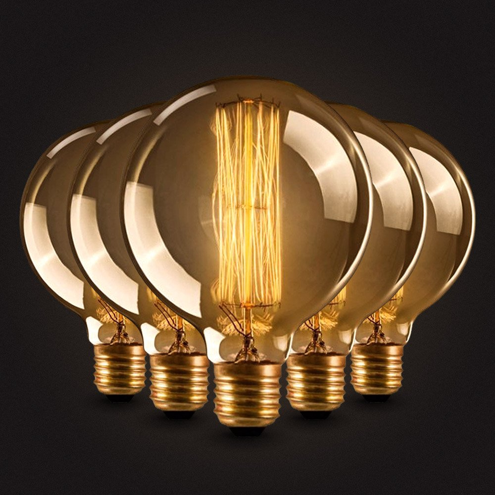 Neverland E27 40W Edison Rétro Lampe Antique Vintage Incandescence Ampoules Poire à cage d'écureuil Filament 50V-240V T225 GreenSun LED Lighting