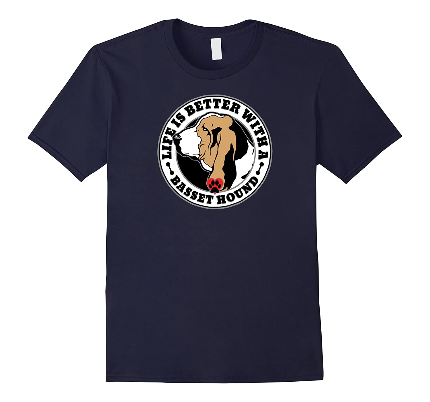 Life is Better with a Basset Hound Dog Lover T-shirt-Vaci