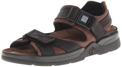 77282f6544b Mephisto Men's Shark Sandals Dark Brown/Black Waxy Leather 6 ...