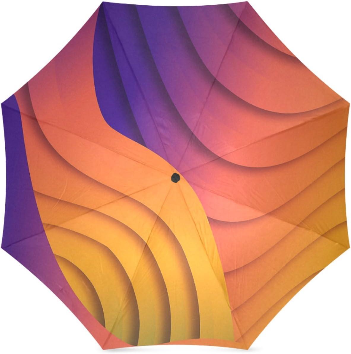 Beautytool Custom Bold Waves Floding Travel Umbrella