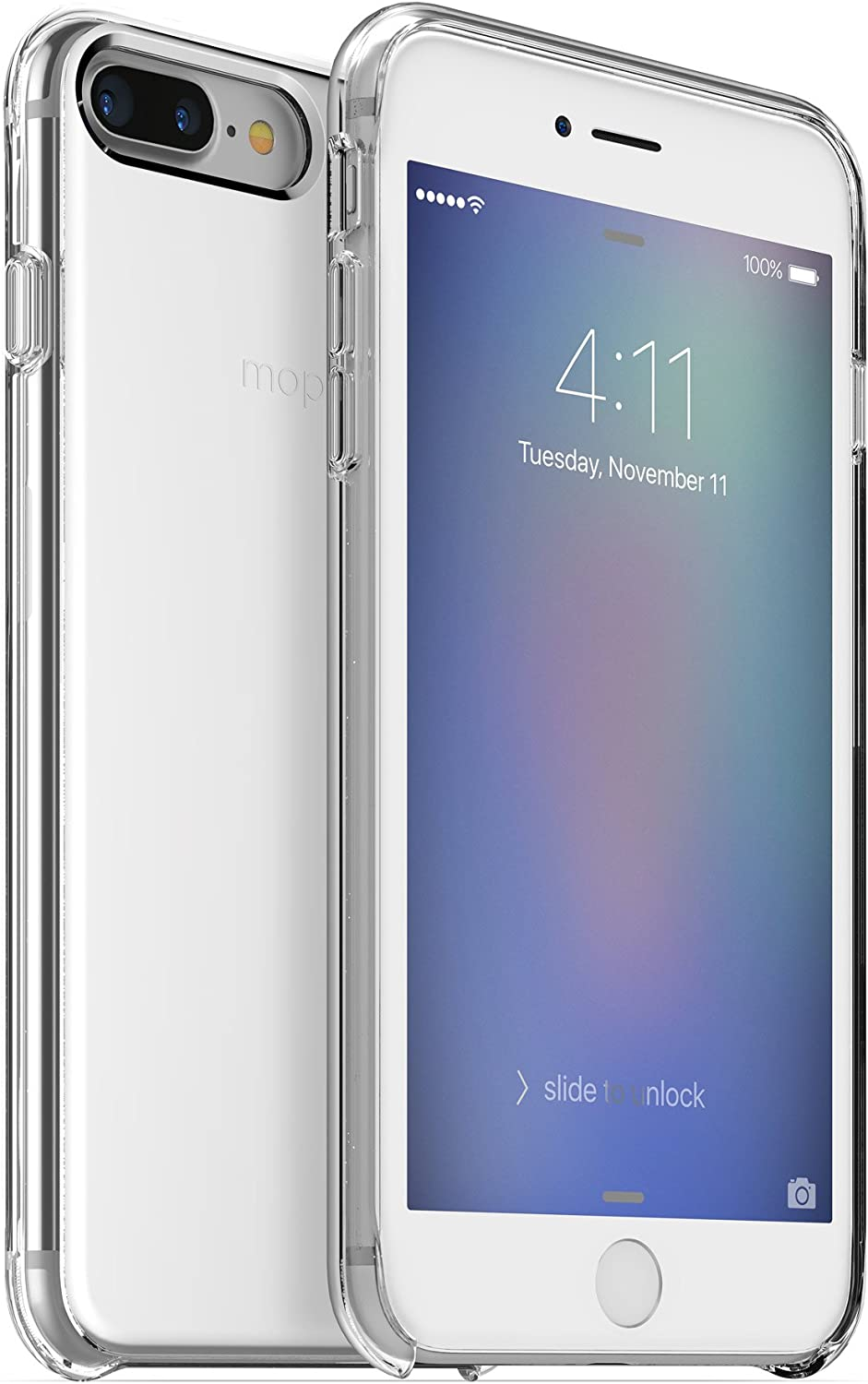 mophie Hold Force Gradient Base Case for Apple iPhone 8 Plus, iPhone 7 Plus - Silver