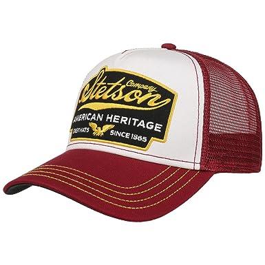Stetson Gorra American Heritage Trucker Hombre | de Malla Beisbol Snapback Cap Snapback, con Visera Verano/Invierno | Talla única Burdeos: Amazon.es: Ropa y ...