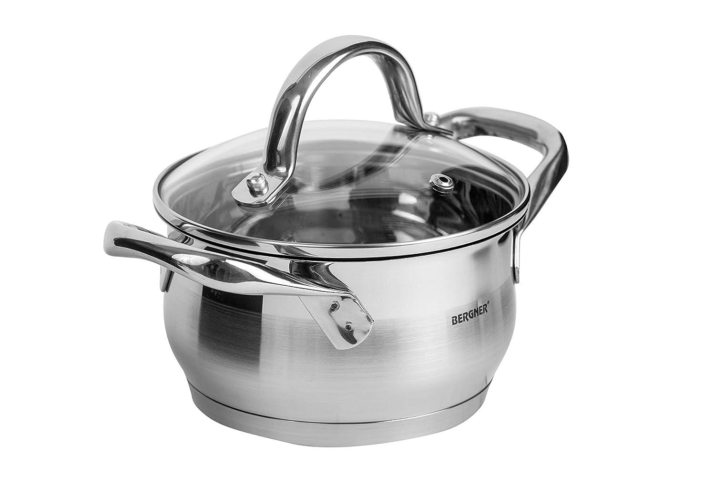Amazon.com: Bergner Gourmet - Olla con tapa (acero ...