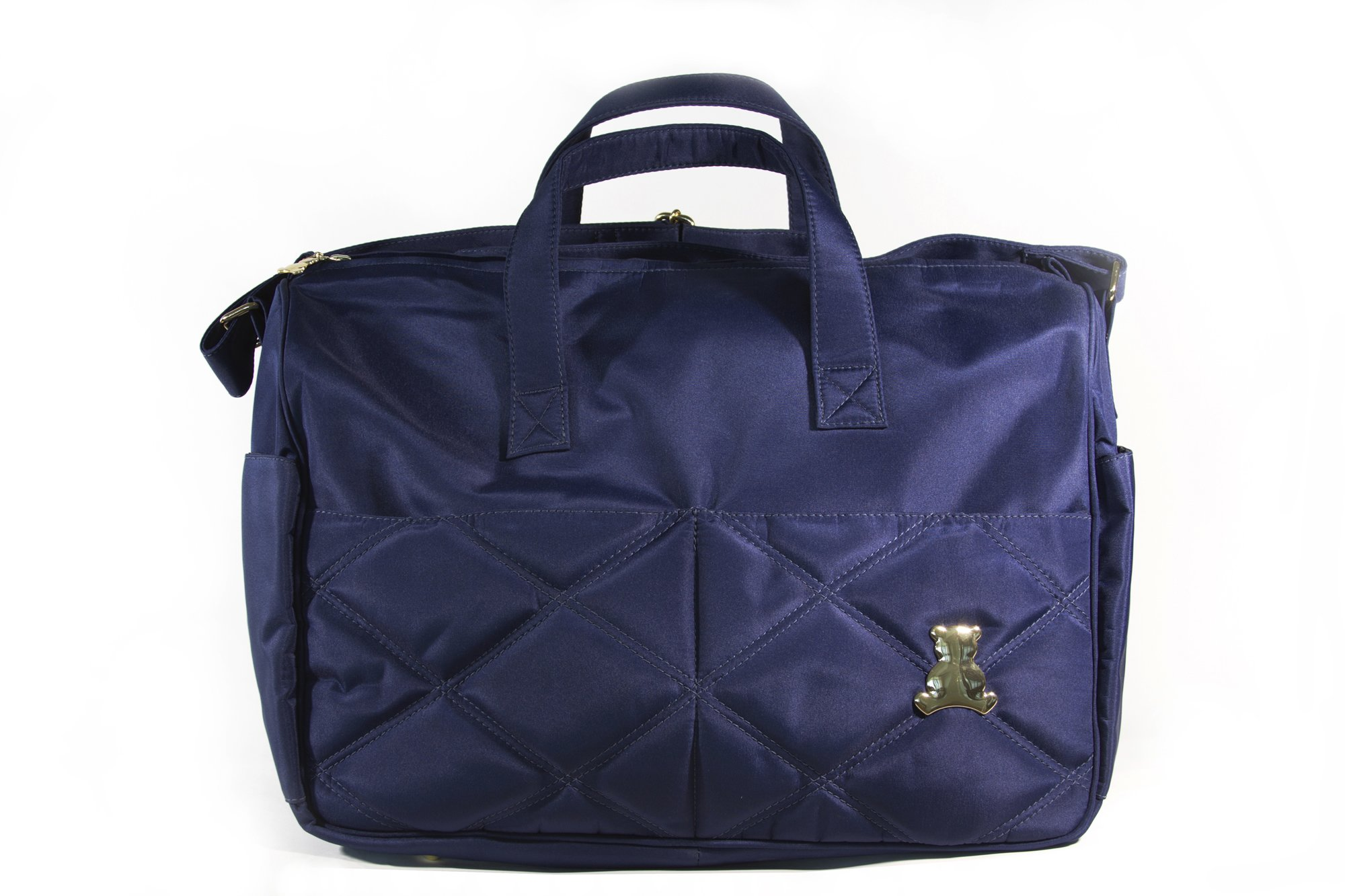 BL BABY - Elegance Collec. - MED - Crossbody Bag - Themal & Front Pockets - Blue - 9x19x17''