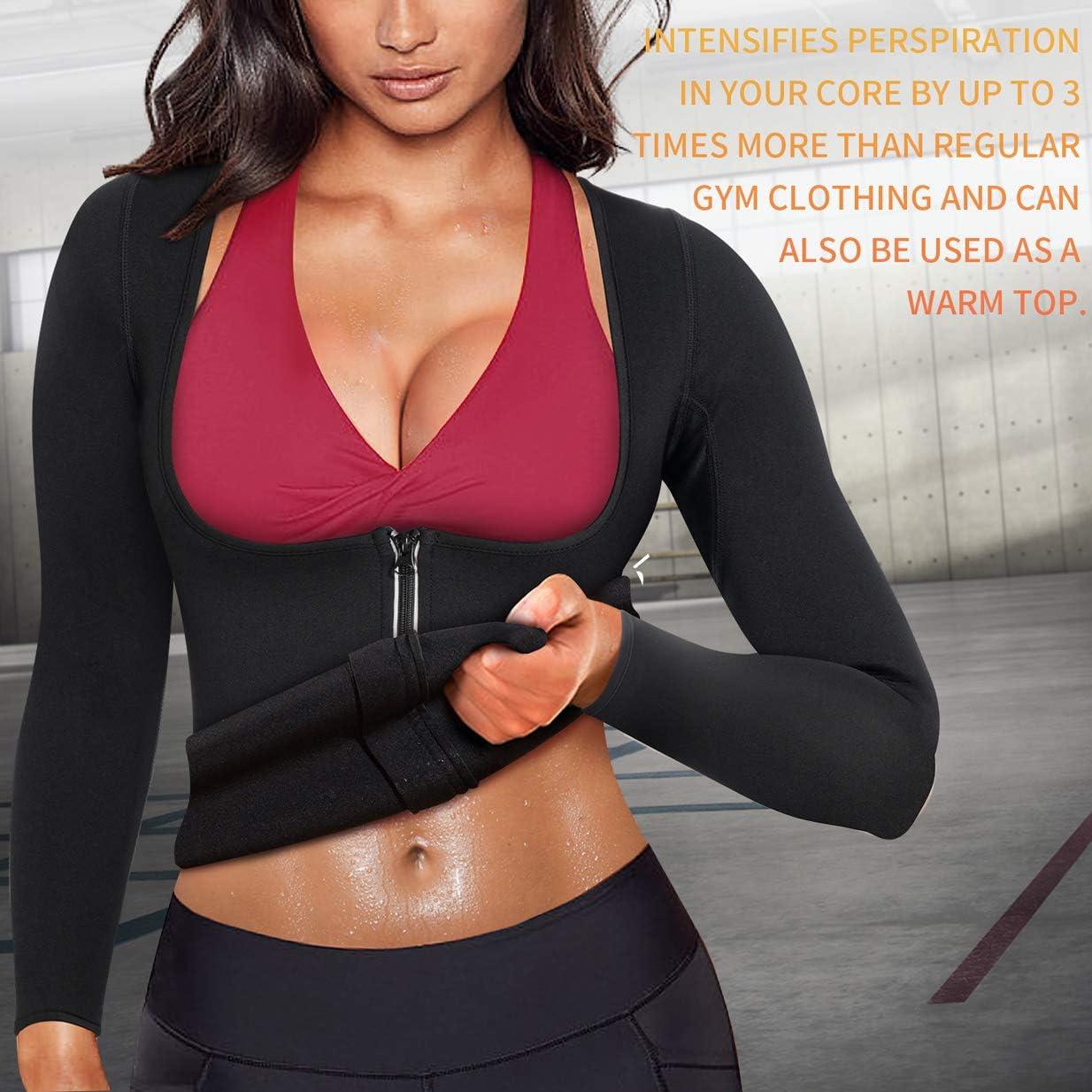 Bafully Combinaison de Sudation pour Femme pour Perte de Poids Sport et Amincissant