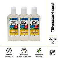 Paquete de 3 - Shampoo de limpieza profunda de Romero Manzanilla Neem