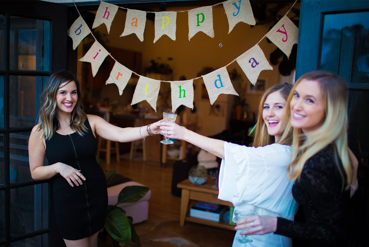 Rustic Burlap Happy Birthday Banner - Premium Quality Birthday Party Decortions by The Sterling James Company SYNCHKG076635