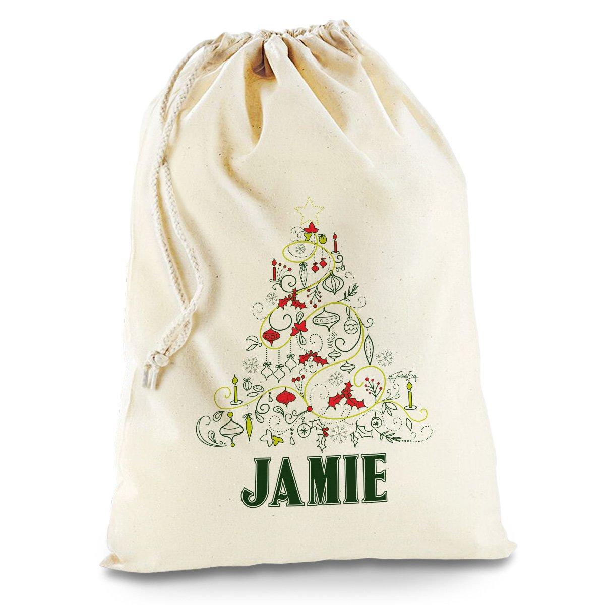 Amazon.de: Doodle Weihnachtsbaum personalisierbar groß weiß ...