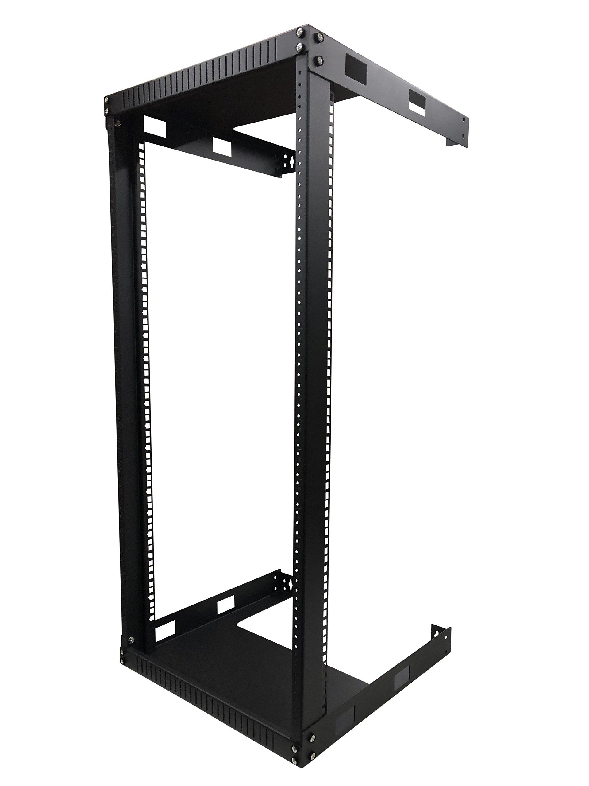 Kenuco 22U Wall Mount Open Frame Steel Network Equipment Rack 17.75 inch Deep