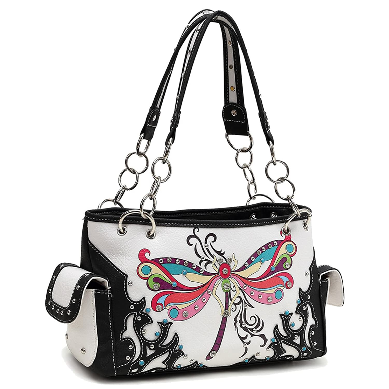 e8db139ad Western Handbag Wristlet Crossbody Purses Women Black: Amazon.co.uk: Shoes  & Bags