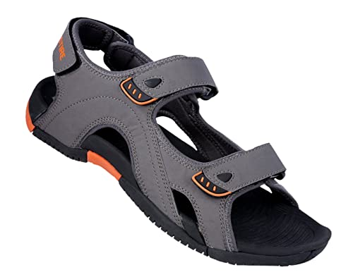 2cfd106965e4 Vestire Men s Dark Grey Synthetic Leather Sandal - 10 UK  Buy Online at Low  Prices in India - Amazon.in