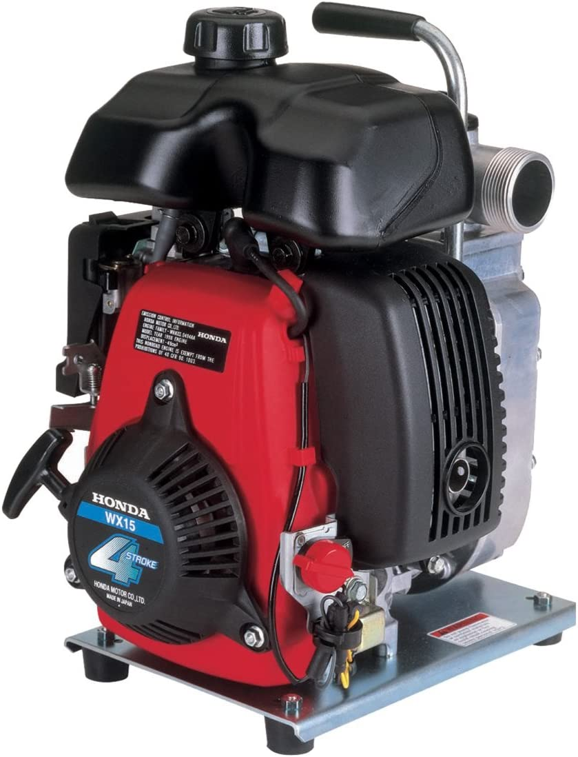 """Honda Power Equipment WX15 Lightweight General Purpose 1.5"""" Water Pump with GX Series Commercial Grade Engine and Transport Handle"""