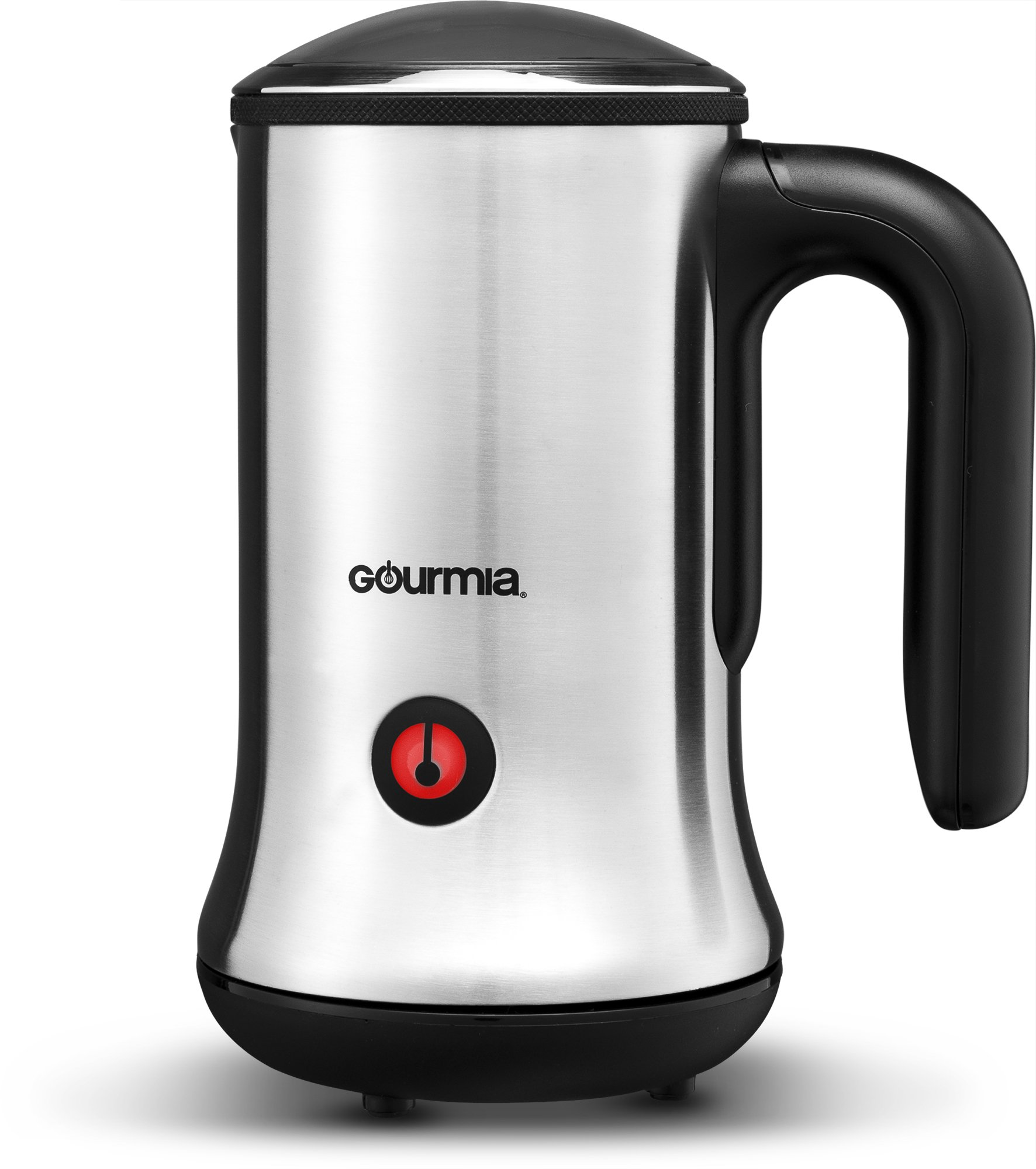 Gourmia GMF245 Cordless Electric Milk Frother & Heater, Stainless Steel 3 Function Froth Maker for Lattes and Cappuccinos, and Milk Heater