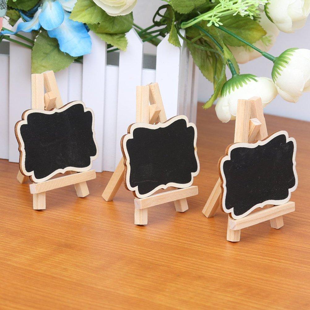 Pixnor 10pcs gerahmt Tafel Tischkarten mit Staffelei aus Holz ...