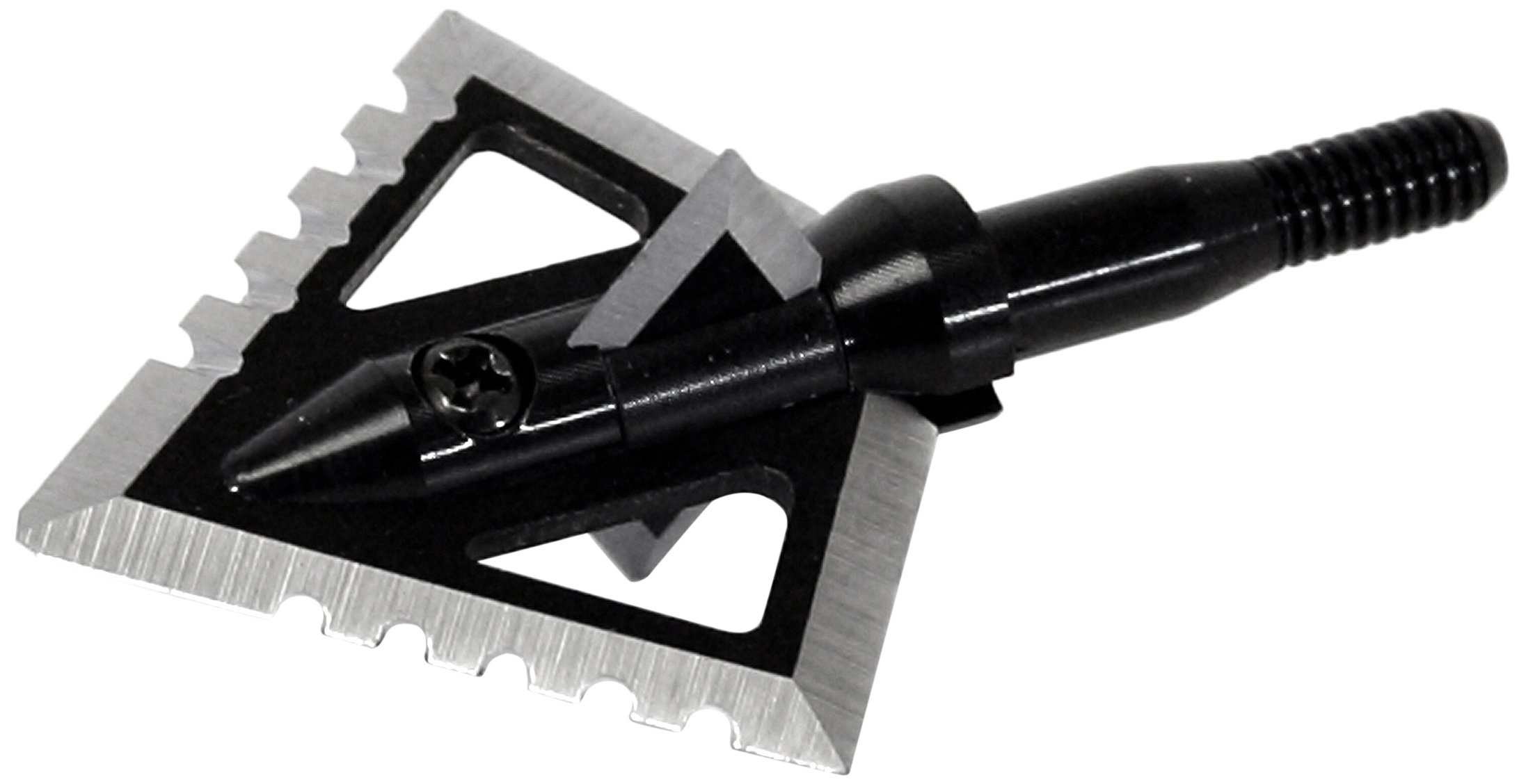 Magnus 4 Blade Hornet Ser-Razor Broadhead (3-Pack), Black, 100-Grain by Magnus