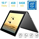"2017 Newest Lenovo Yoga Book 10.1"" FHD Touch IPS 2-in-1 Convertible Tablet PC, Intel Atom x5-Z8550 1.44GHz, 4GB RAM, 64GB SSD, Bluetooth, HD Graphics, Android 6.0.1 Marshmallow OS- Gunmetal Grey"